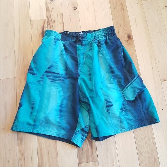 d65747cbaf Nike Swim | 315 Sale Mens L Blue Watercolor Shorts | Poshmark